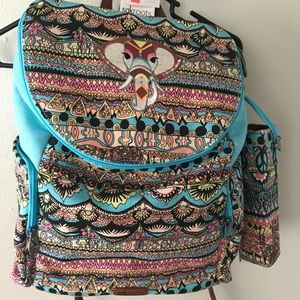 Sakroots Backpack- NWT- Elephant